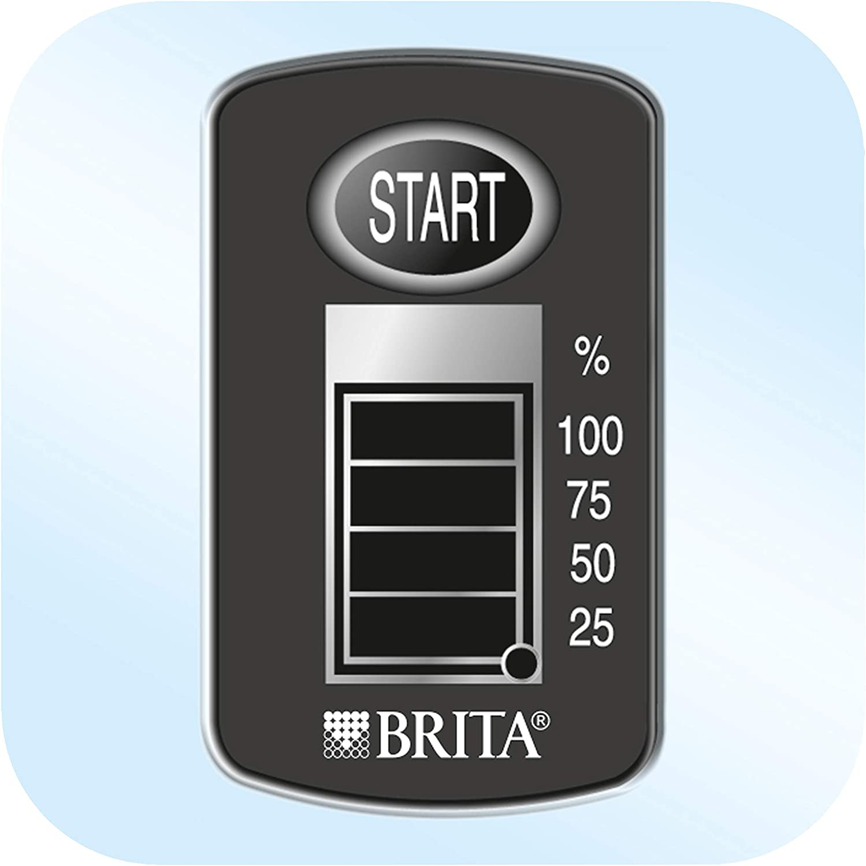 Blue BRITA Marella  Confezione base Caraffa con filtro acqua Fridge fit include 3 MAXTRA +
