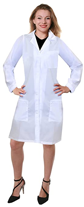 21a61cb4b4651 Image Unavailable. Image not available for. Colour: LADIES LAB COAT FANCY  DRESS COSTUME - WHITE DOCTOR'S ...