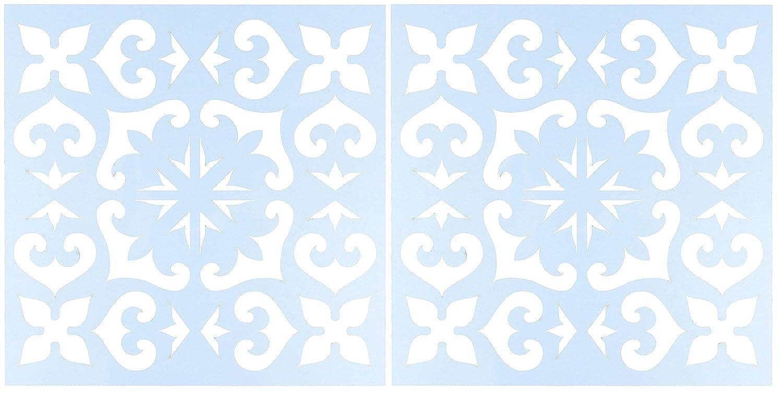 CLEARSNAP クリアスクラップ CSSMMEXTILE12 ステンシル 12インチ x 12インチ メキシカンタイル ブルー Тwo Рack CSSMMEXTILE12 B07PR4VN8Z  Тwo Рack
