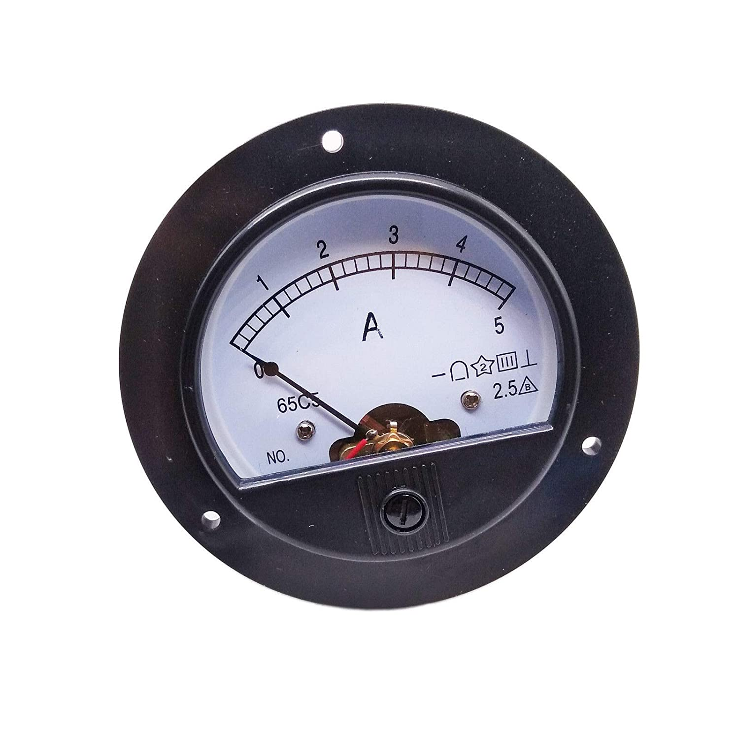 DC 0~5A Round Analog AMP Current Pointer Needle Panel Meter Ammeter
