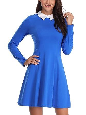 Fensace Women Wednesday Addams Cosplay Peter Pan Collar Dress