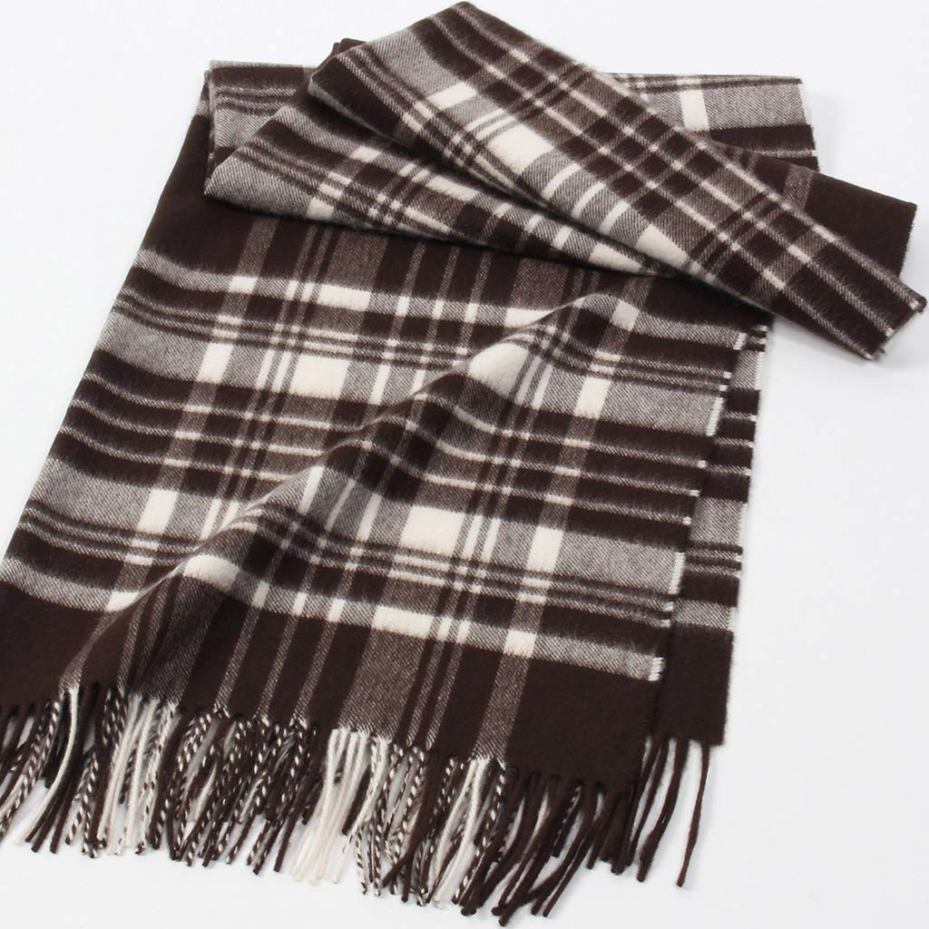 e09fdf5691 FJ-Direct Christmas Deer Elk Plaid Pattern Childrens Double-sided Printed  Scarves Winter Keep Warm Girls Boys Scarves Clothing ...