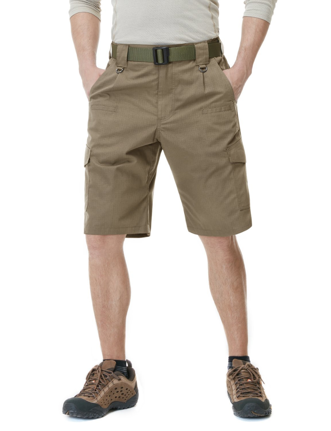 CQR CQ-TSP202-CYT_36 Men's Tactical Lightweight Utiliy EDC Cargo Work Uniform Shorts TSP202