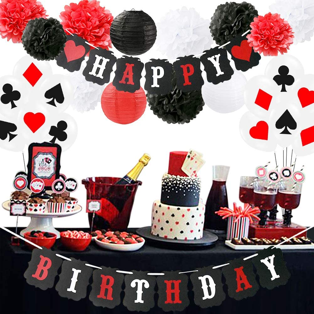 Poker Birthday Party Decorations/Poker Theme Party Supplies Casino Party Decoration Supplies Casino Theme Party,Las Vegas Themed Parties,Casino Night,Casino Birthday Décor