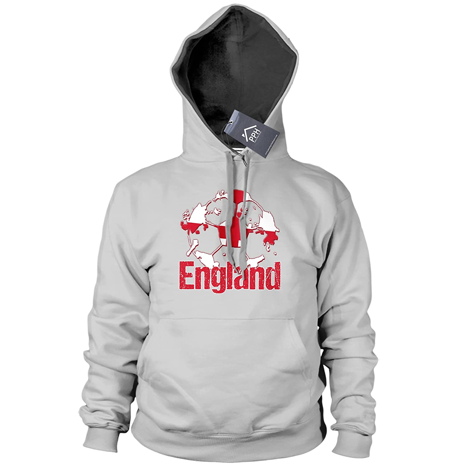 England Football Shirt Three Lions Supporters Range Hoodie