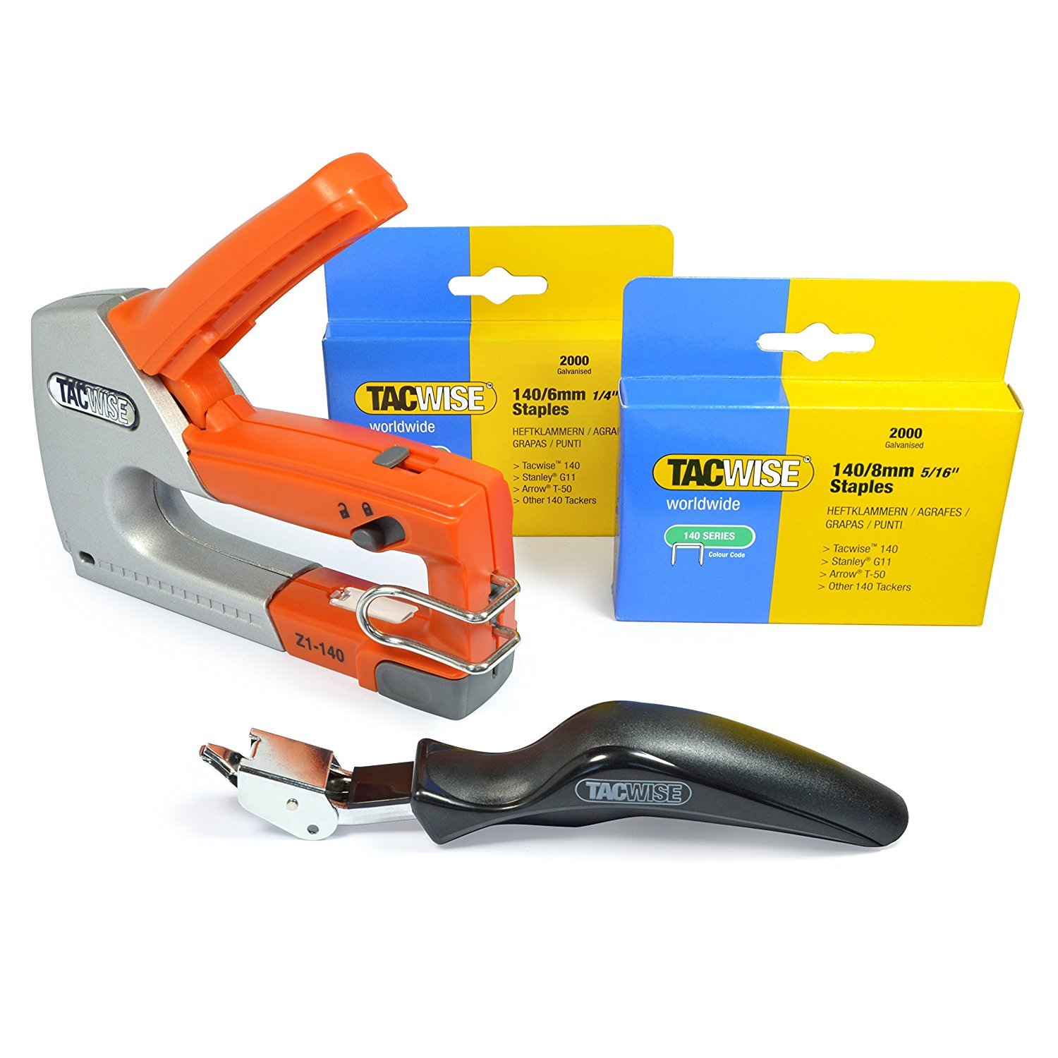 Tacwise 1283 Z1-140 Staple Gun with Staples and Remover Bundle Kit (1283) by TACWISE
