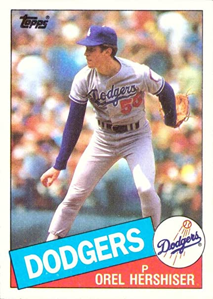 1985 Topps Baseball 493 Orel Hershiser Rookie Card