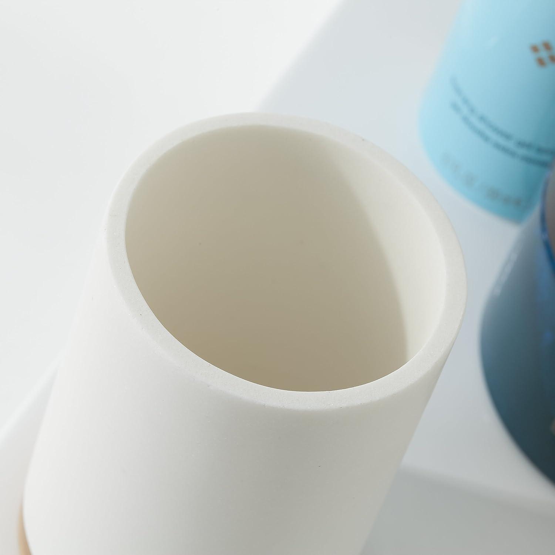 Plastique Sealskin 361910465/Gobelet Grace Polyr/ésine Sable Accessoire de Salle de Bains 7,3/x 7,3/x 10.6/cm