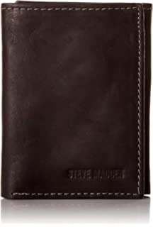 726dcf091a1 Steve Madden Men's Leather RFID Blocking Wallet with Extra Capacity ...