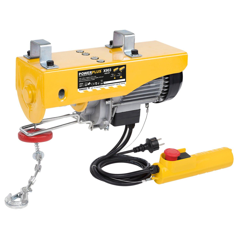 Electric Cable Hoist Rope Hoist Winch Cable Winch Crane Hoist 400/800 kg Powerplus