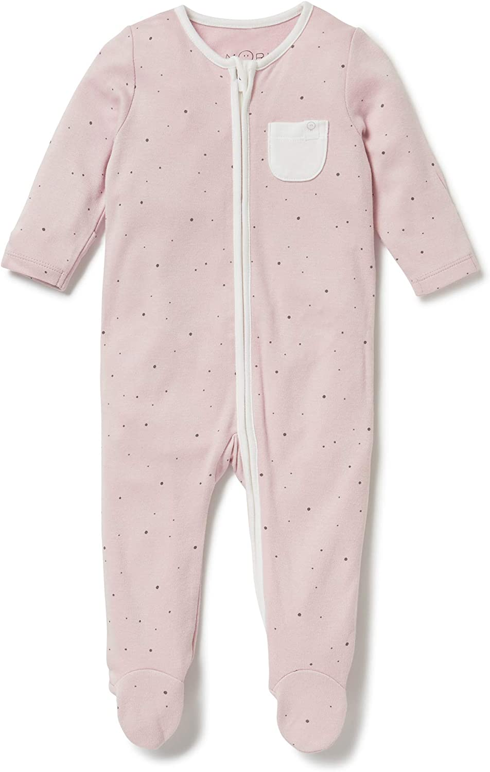 MORI Zip-Up Sleepsuit 18-24 Months, Stardust 30/% Organic Cotton /& 70/% Bamboo available from newborn up to 2 years