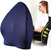 Lumbar Support Pillow is Orthopedic Design for Back Pain Relief,Lumbar Support Back Cushion with Premium Adjustable Strap and Washable Cover for Easy Posture in the Car, Office or Home Chair Plane