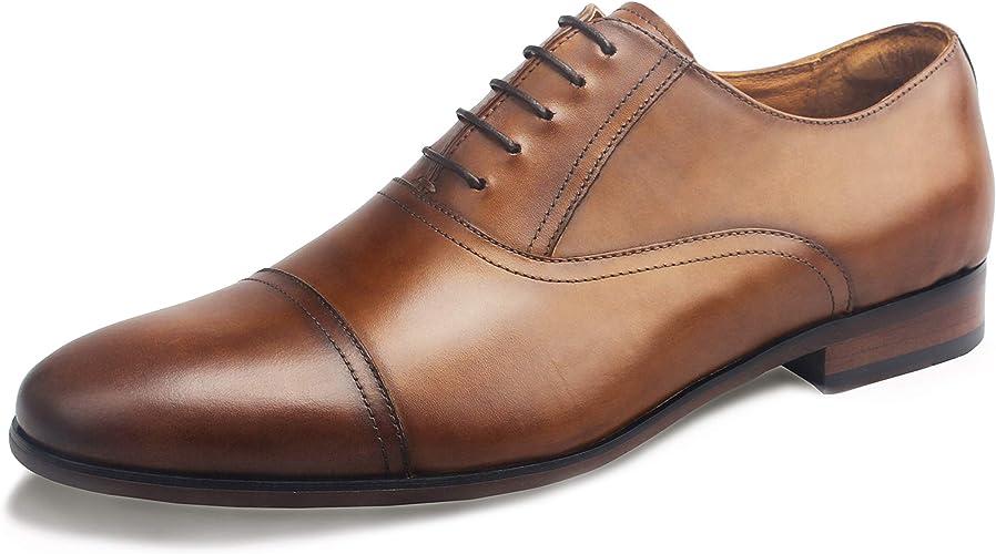 DESAI Mens Dress Shoes Lace Up Oxfords