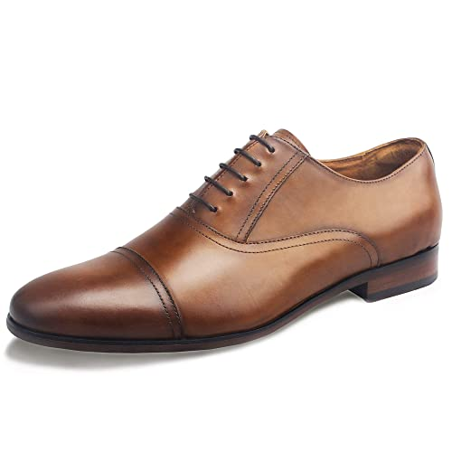 DESAI Scarpe Stringate Eleganti Oxford Uomo Marrone Nero  Amazon.it ... 934bc785251