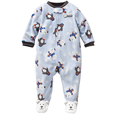 6e21f6b9a70b Amazon.com  Carters Boys Newborn-9 Months Polar Bear Micro Fleece ...