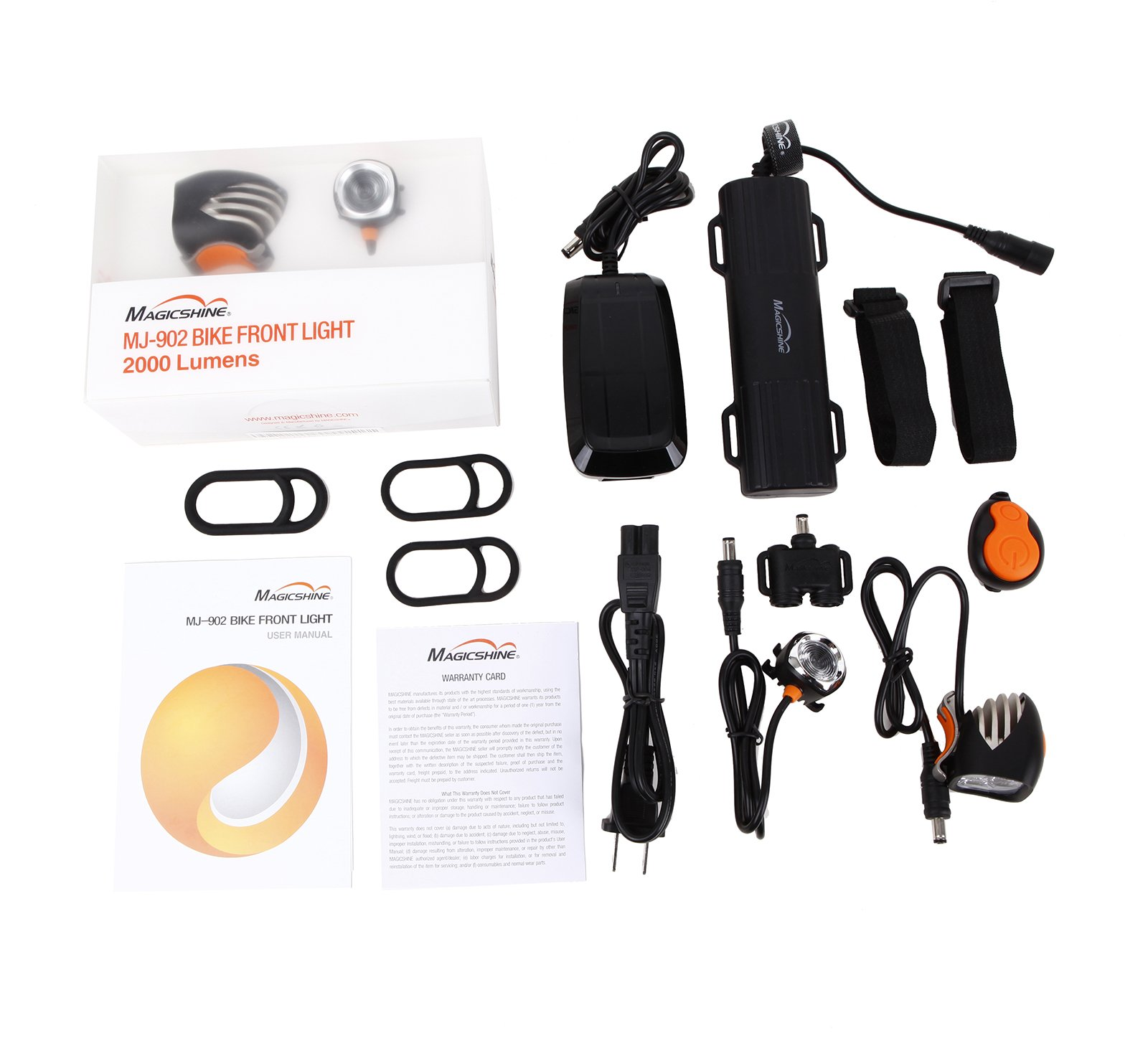 Magicshine MJ 902, 1600 Lumens Bike Light Set, Wireless Remote Bicycle Lights Front And Rear Combo, Rechargeable 2 CREE XM-L2 LED Bike Tail Light, Portable & Convenient Bright Bike Light by Magicshine (Image #2)