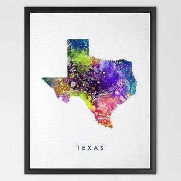 Printable Map Of Texas For Kids.Amazon Com Dignovel Studios 8x10 Texas Map Usa States Map