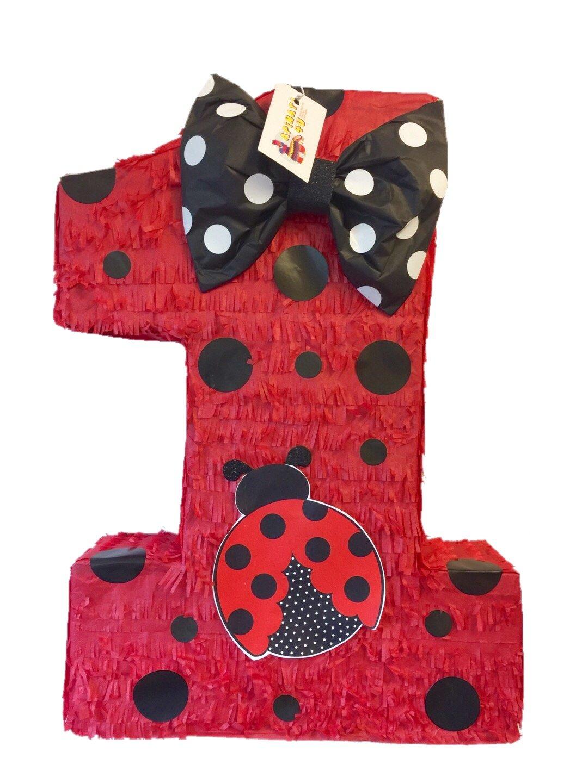 APINATA4U Large Red Ladybug Number One Pinata 23'' Tall