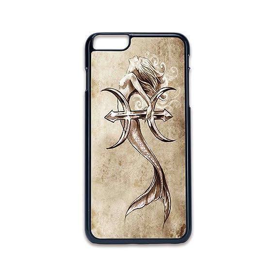 amazon com phone case compatible with iphone6 plus iphone6s plus 2dphone case compatible with iphone6 plus iphone6s plus 2d print black edge,mermaid,vintage