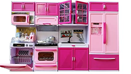 Buy Rvold Pink Pretty Girl Dream House Comfort Modern Kitchen Set