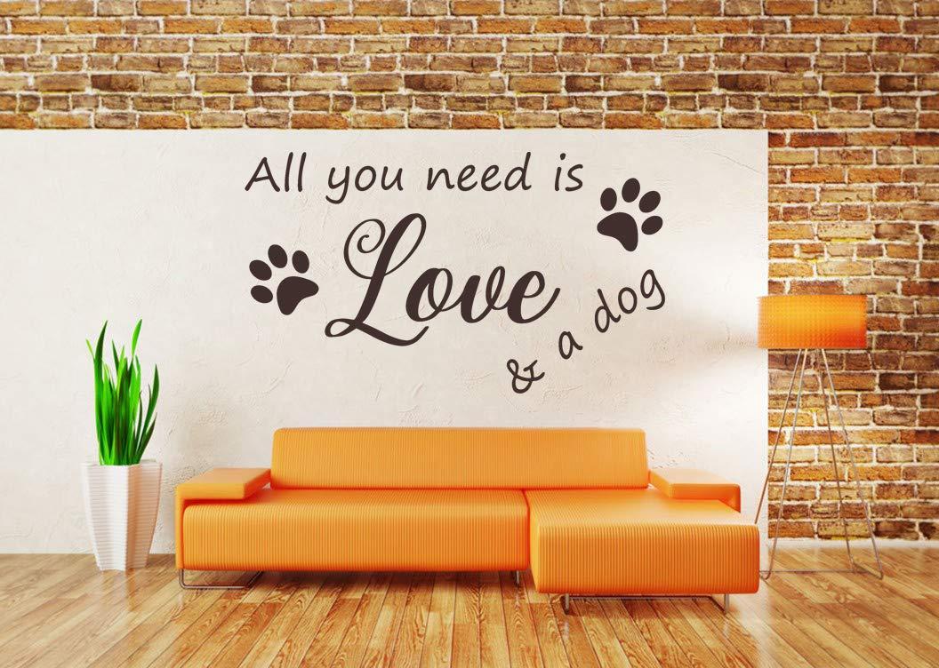 Adesivo Sala Da Pranzo Murale Adesivo Murale In Vinile Cucina Casa All You Need Is Love And A Dog Decorazione Murale Casa E Cucina Arte E Materiale Decorativo