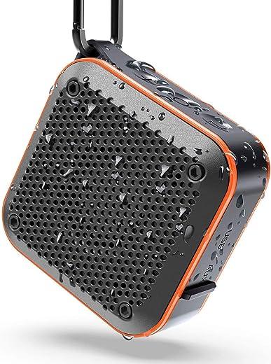 Waterproof Bluetooth Speakers Portable Wireless, FM Radio Shower Speakers with TWS Stereo
