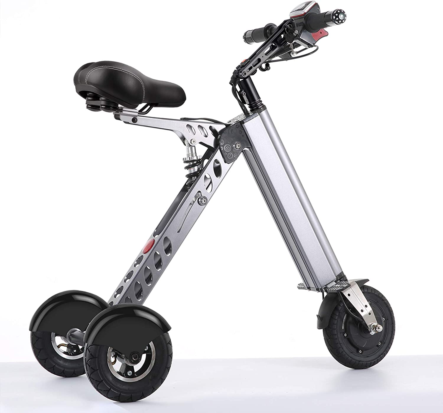 TopMate ES30 Electric Scooter Mini Foldable Tricycle Weight 14KG with 3 Gears Speed Limit 6-12-20KM H Full Charge 30KM Range Especially Suitable for People Need Mobility Assistance and Travel