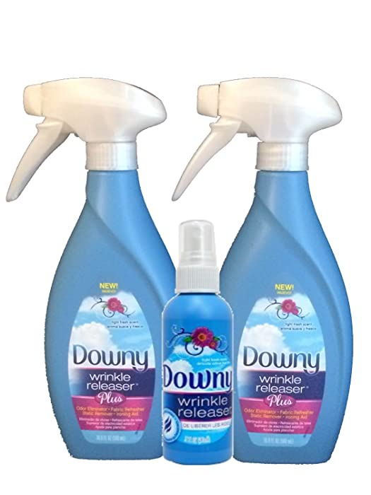 Downy Wrinkle Releaser Plus 16.9 fl oz (2 PACK) With Travel Size Spray 3 fl oz
