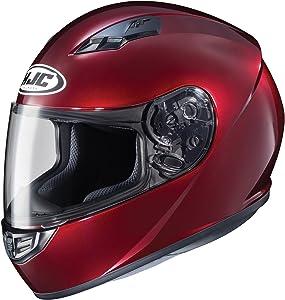 HJC Helmets CS-R3 Unisex-Adult Full Face Metallic Motorcycle Helmet (Wine, Large)