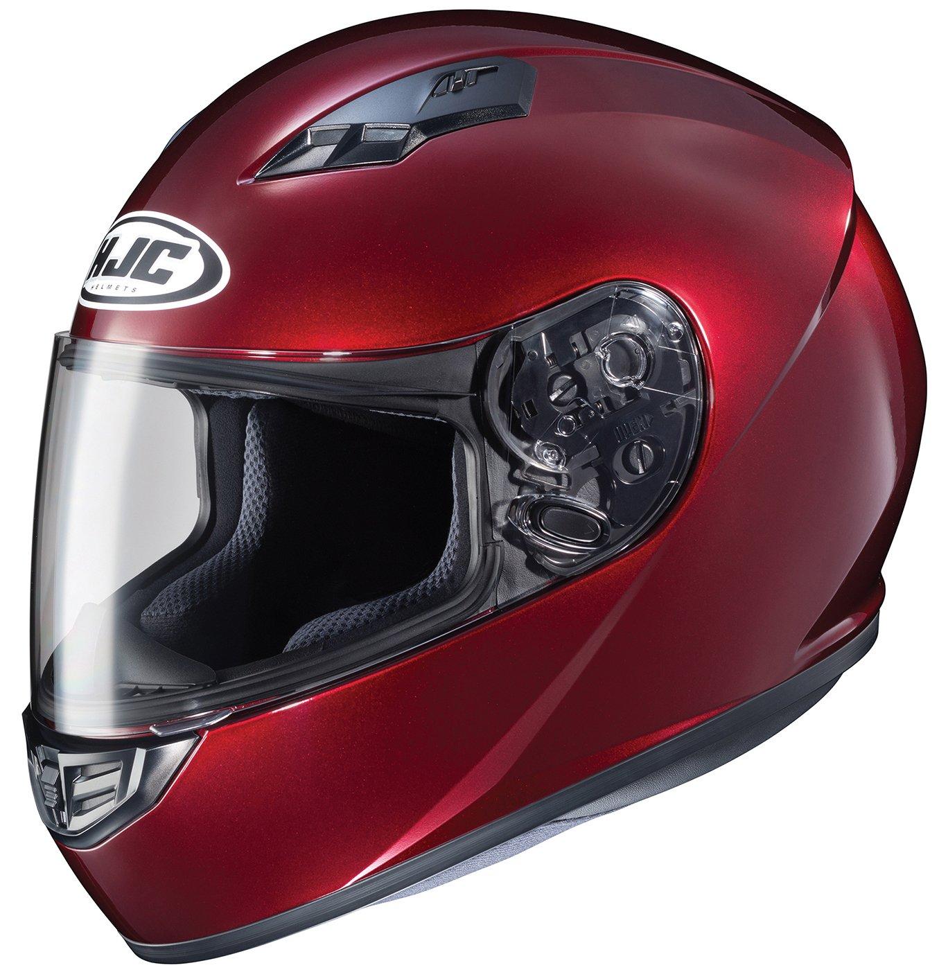 HJC Helmets CS-R3 Unisex-Adult Full Face Metallic Motorcycle Helmet (Wine, XX-Large)