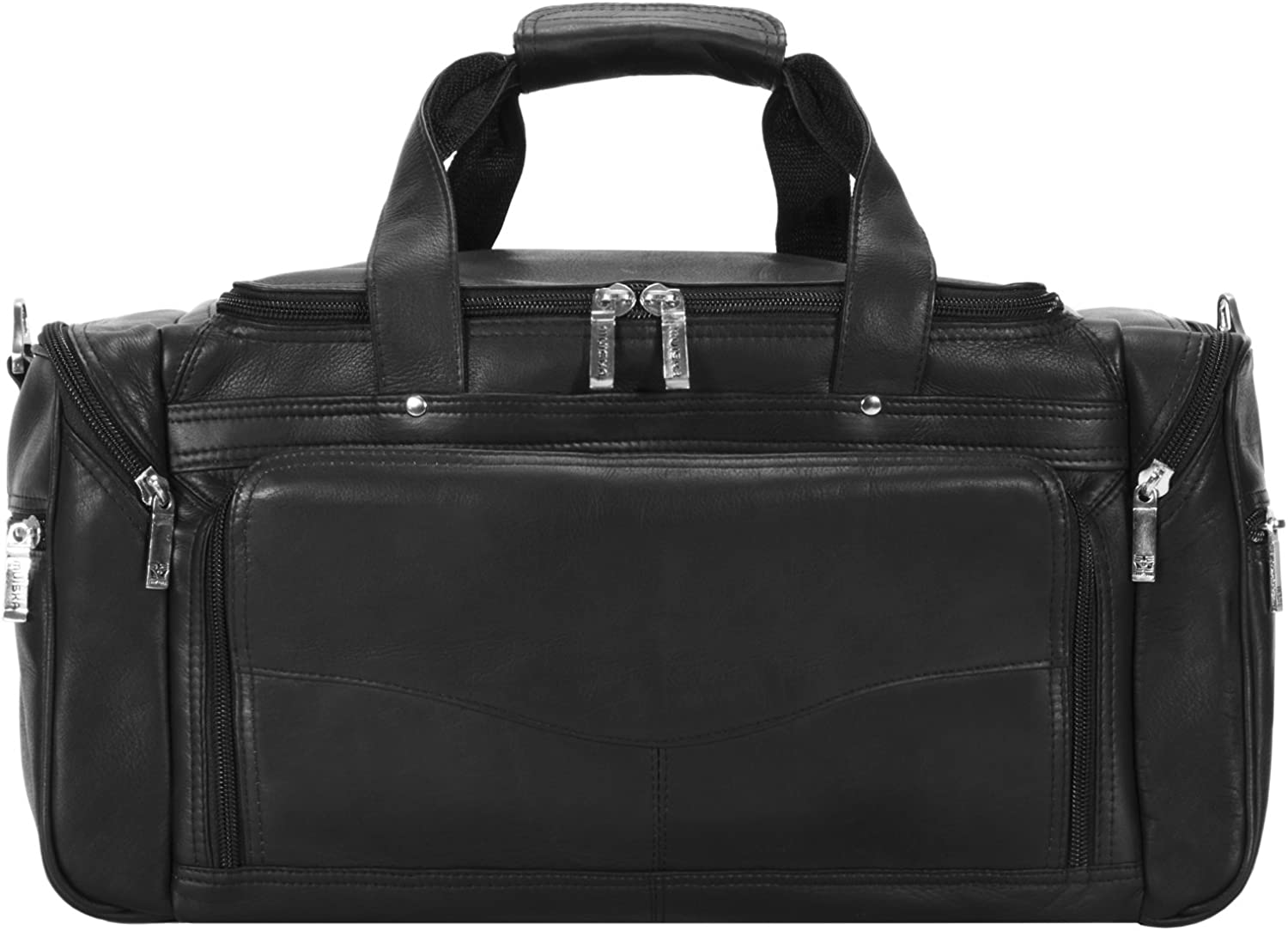 Muiska 20 Inch Leather Carry On Duffel Bag Carry-On Luggage