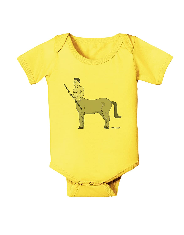 Grayscale Baby Romper Bodysuit TooLoud Greek Mythology Centaur Design