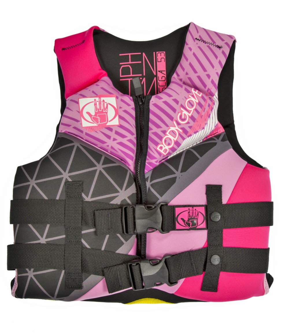 Body Glove Wetsuit Co Phantom Neoprene US Coast Guard Approved PFD Life Jacket, Hot Pink, by Body Glove Wetsuit Co   B01CZ2ZF5A