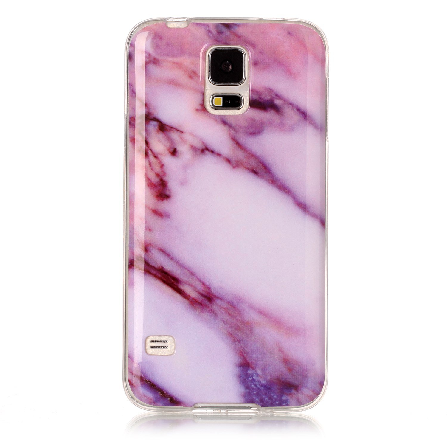 For Samsung Galaxy S5 Marble Case White,OYIME Unique Luxury Glitter Colorful Plating Pattern Skin Design Clear Silicone Rubber Slim Fit Ultra Thin Protective Back Cover Glossy Soft Gel TPU Shell Shockproof Drop Protection Protective Transparent Bumper and