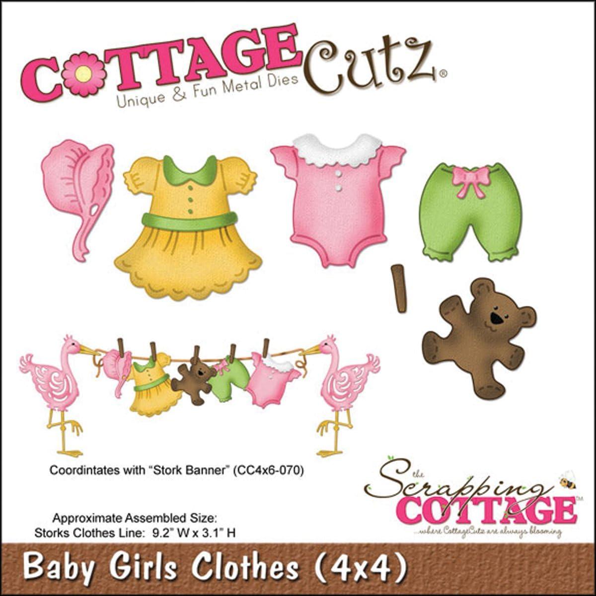 Baby Boy Clothes 4 by 4-Inch CottageCutz 4X4492 Die with Foam
