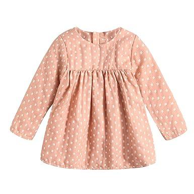 Amazon Com Toddler Baby Dresses Cotton Plaid Printed Long Sleeve