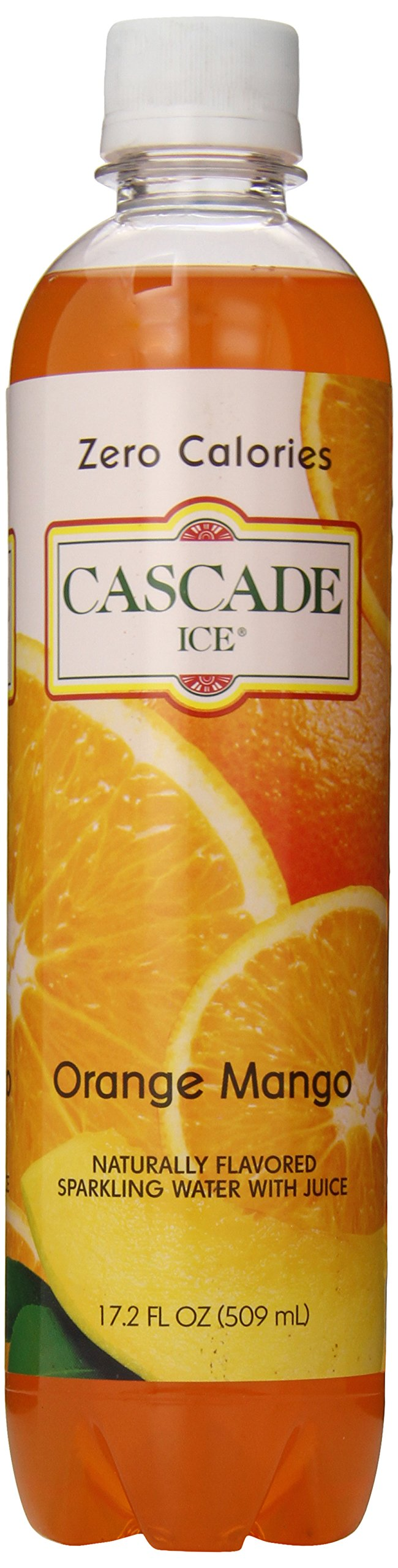 Cascade Ice Sparkling Water, Orange Mango, 17.2 Ounce (Pack of 12) by Cascade Ice