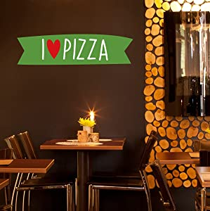 STICKERSFORLIFE ced824 Full Color Wall Decal Sticker Pizza Food Cafe Pizzeria Restaurant