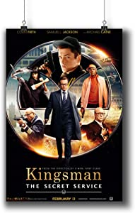 Kingsman:The Secret Service (2014) Movie Poster Small Prints 488-001,Wall Art Decor for Dorm Bedroom Living Room (A3|11x17inch|29x42cm)