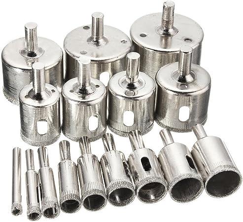 lot de forets pour carrelage en c/éramique porcelaine marbre granit r/ésistant 3 mm 4 mm 5 mm 6 mm 8 mm 10 mm Lot de 6 embouts pour verre
