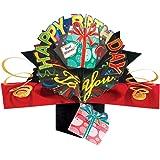 Second Nature POP033 - Biglietto di auguri in 3D per compleanno, nero