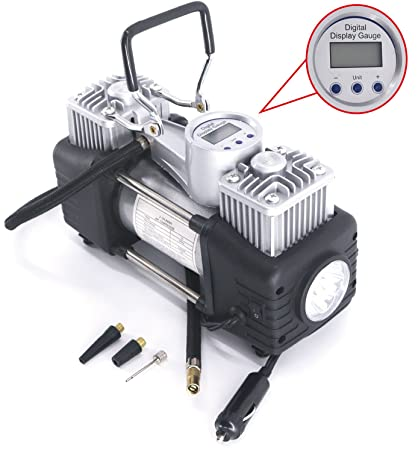 Amazon.com: RUGCEL WINCH Portable Air Compressor Pump 10.5KG, 12V 280W Auto Digital Car Tire Inflator Gauge: Automotive