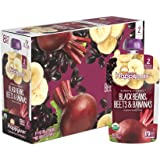 Happy Baby Clearly Crafted Organic Baby Food Stage 2, Black Bean, Beets, Bananas, 4 Ounce, 16 Count