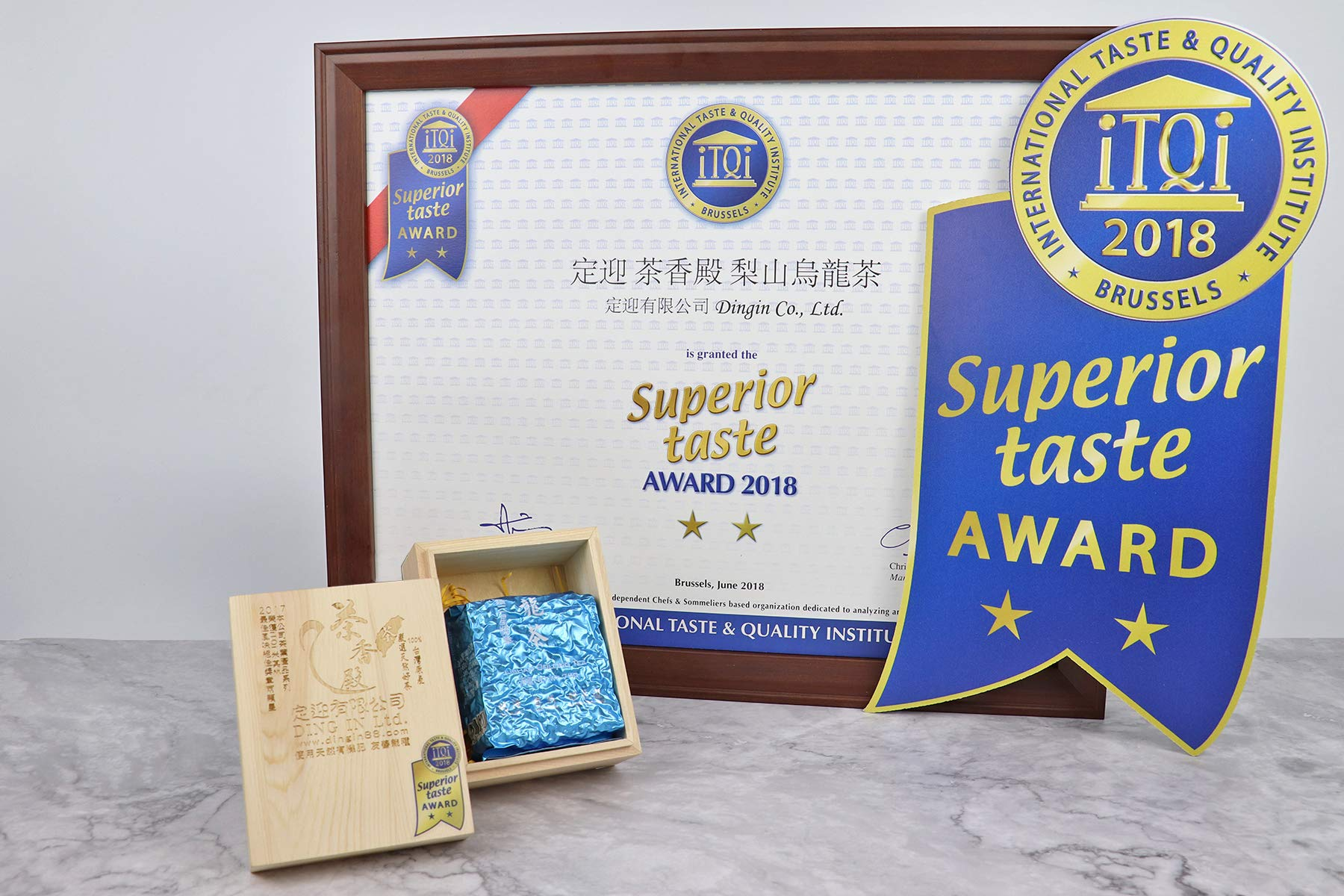 DING IN Lishan Oolong Tea Pine Box 75g/box by Ding In ltd. (Image #7)