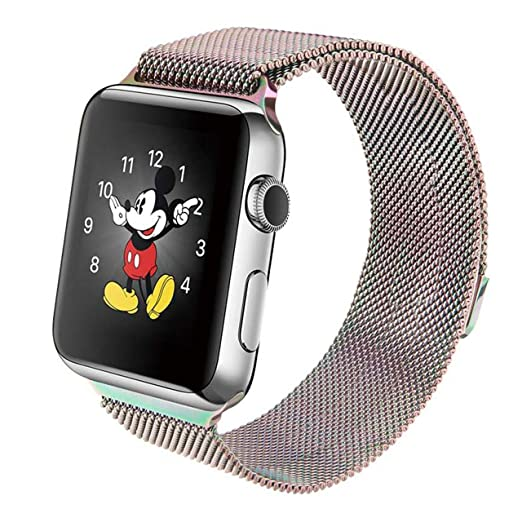 15 opinioni per Trop Saint® Cinturino Apple Watch in Maglia Milanese Multicolore (42mm) con