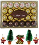 Ferrero Collection - Assorted Chocolates - 24 Pieces - Combined with 2 Natural Yellow LED DIYA