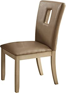 ACME Furniture Acme Faymoor Cream PU Side Chair (Set-2)
