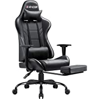 Homall Gaming Chair Computer Office Chair Ergonomic Desk Chair with Footrest Racing Executive Swivel Chair Adjustable…