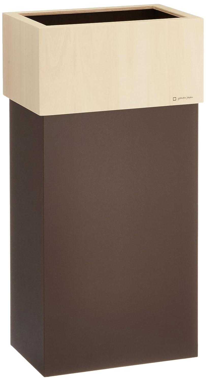 ヤマト工芸 大容量ダストボックス 「W CUBE 30」 ブラウン YK15-011 30L B018X7PU3Sブラウン