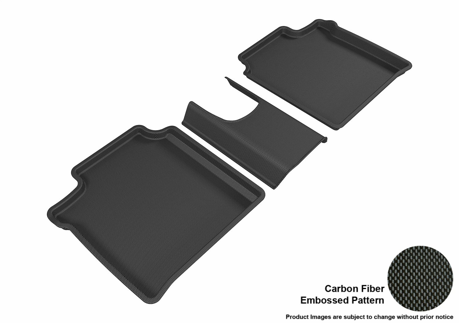 3D MAXpider Front Row Custom Fit All-Weather Floor Mat for Select Nissan Versa Note Models Black Kagu Rubber L1NS08711509